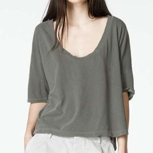 James Perse Boxy Low Scope Neck Tee